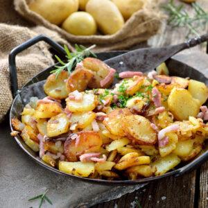 Cartofi taranești cu bacon